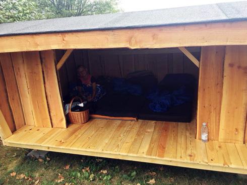 Udlejning af shelter ved Bindesbølgård Ferielejligheder